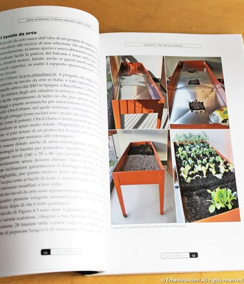 Tavolo da orto sul balcone - da L'orto sul balcone. Coltivare naturale in spazi ristretti. Seconda edizione Fag, 2012