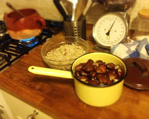castagne in cucina