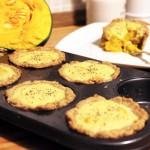 cocotte di brisé alla zucca con crema di formaggio vegan