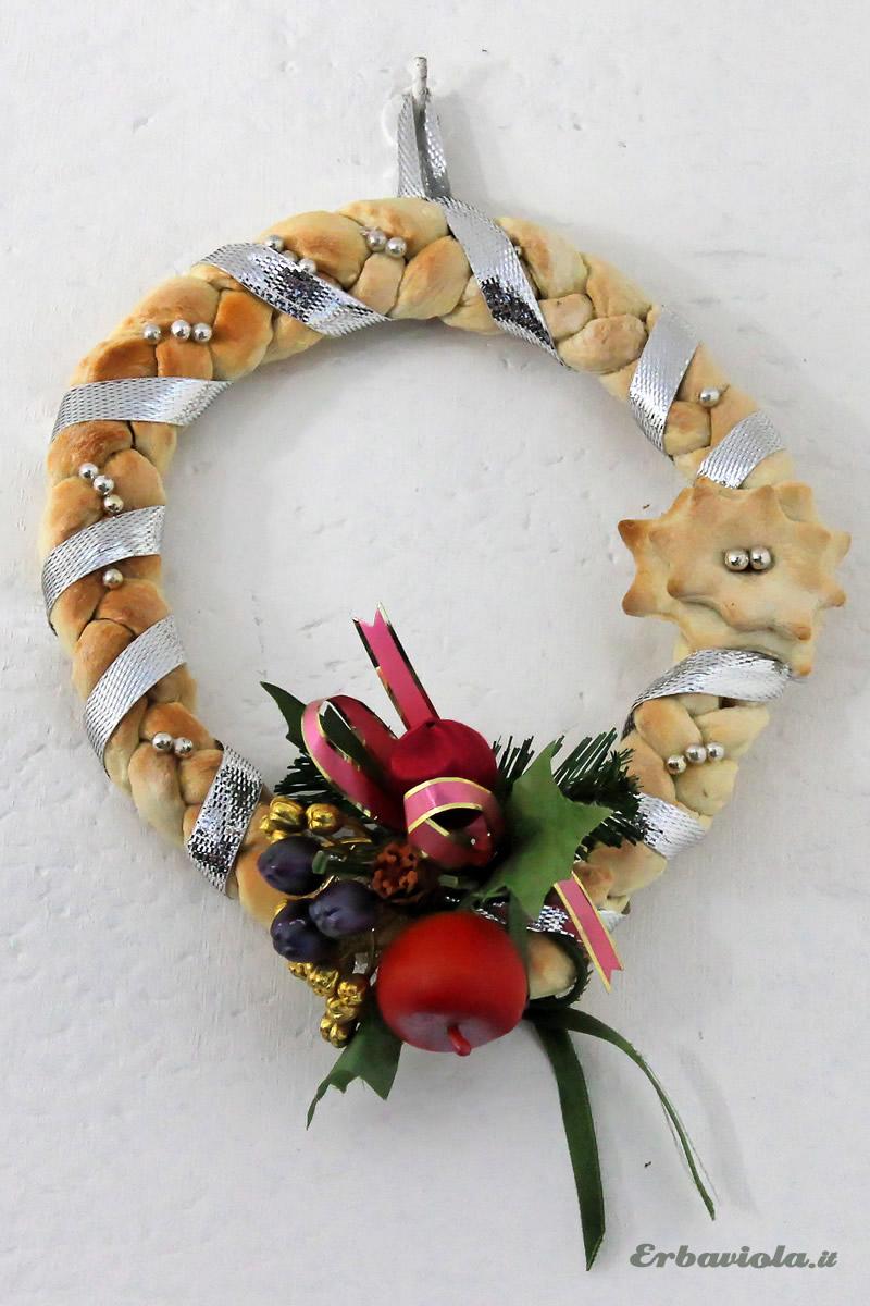 corona di pane ghirlanda natale yule