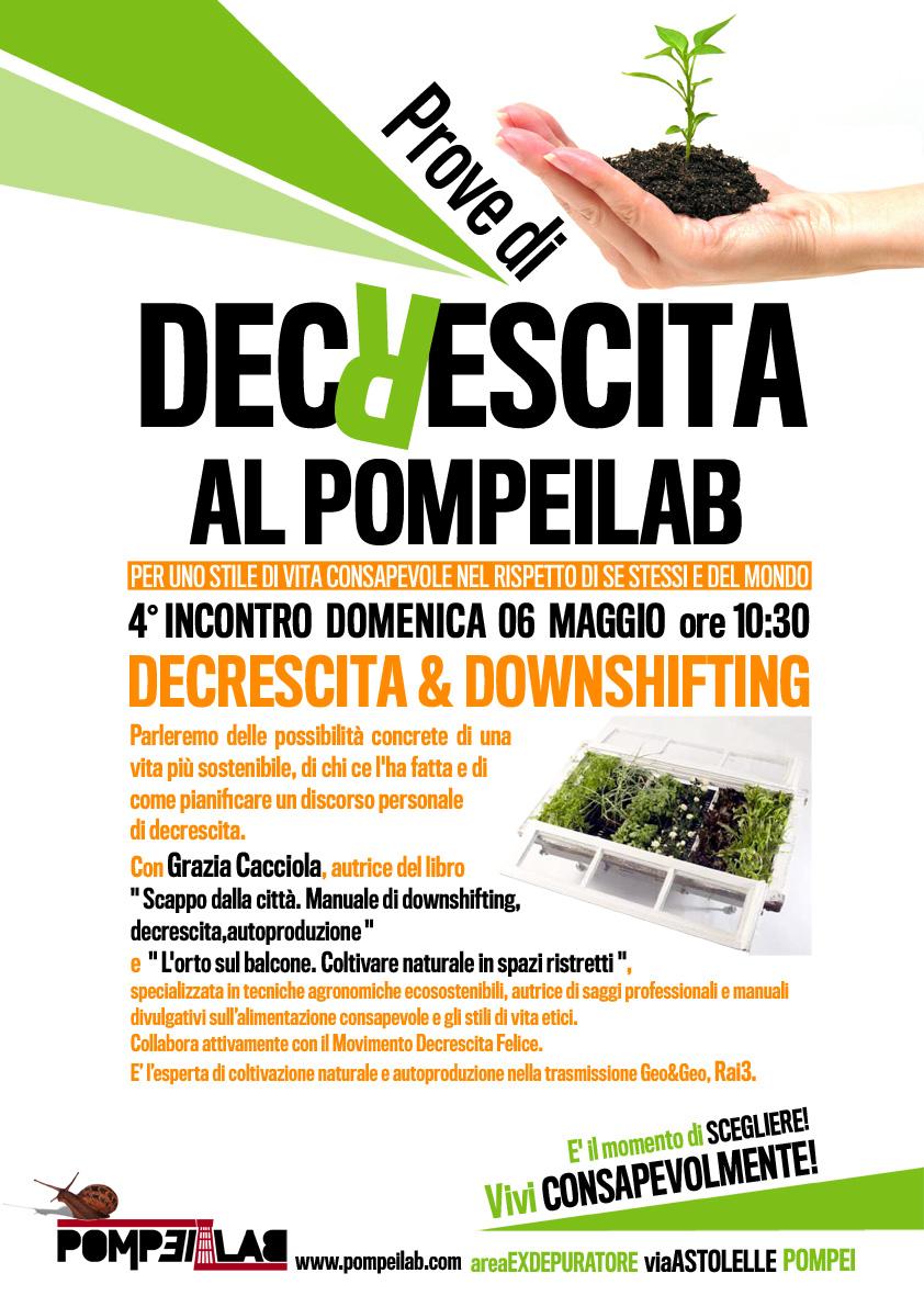 6 maggio 2012 PompeiLab, Pompei, Decrescita & Downshifting con Grazia Cacciola.
