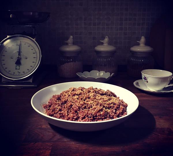 riso rosso selvatico: mindfulness nella cottura