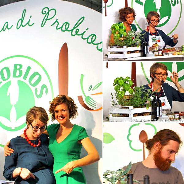 sana 2013 Probios con Cucina Consapevole: Nicole Provenzali e Marilisa Bombonato all'opera!