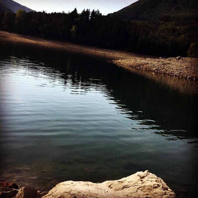 semplicità: sera sul lago