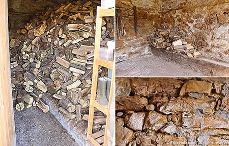 legnaia con sessanta quintali di legna