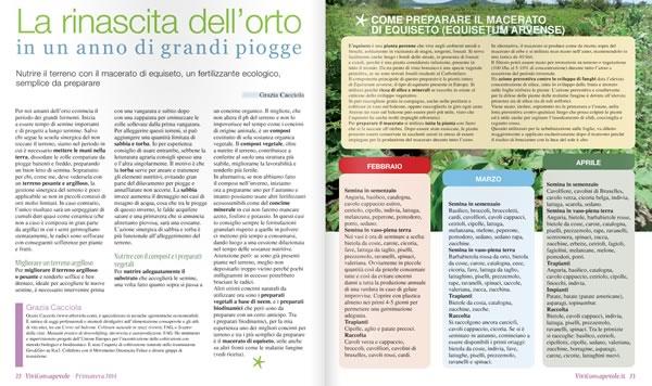 Viviconsapevole - Rubrica dell'orto naturale - La rinascita dell'orto, scaricabile gratuitamente