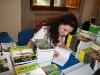 Firma dei libri e chiacchiere allo stand di Macrolibrarsi