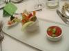 Un piatto ben presentato del ristorante, peccato fossero solo due verdure crude in croce