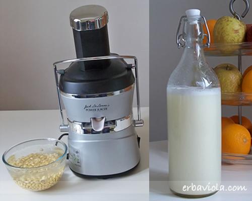 fare il latte di soia con la centrifuga