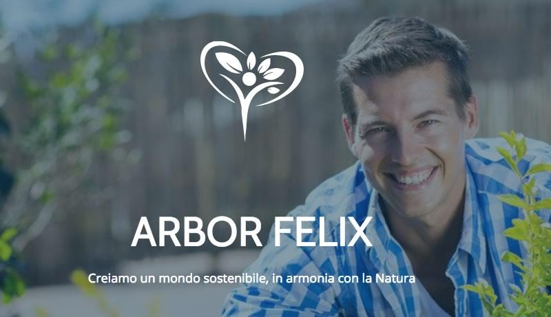 nascita di arbor felix, homepage del sito