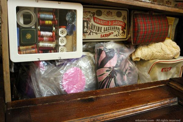 cassetto del cucito al posto della craft room - erbaviola.com