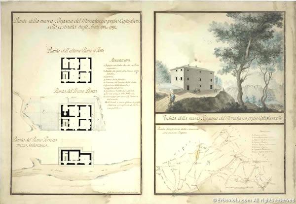 Dogana Castiglioncello di Moranduccio, planimetria - erbaviola.com