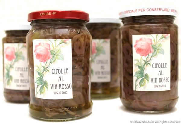 Cipolle al vin rosso - erbaviola.com