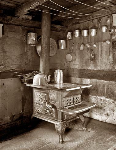 cucina a legna antica - Archivio Shorpy - www.shorpy.com