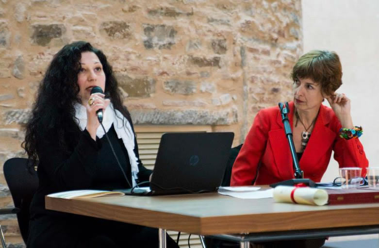 Con Camilla Lattanzi di ControRadio, durante la conferenza per il premio Sabrina Sganga 2015