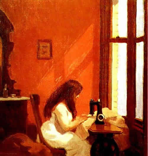 hopper - girl sewing
