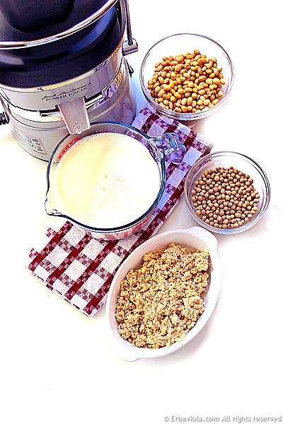 latte di soia con centrifuga erbaviola.com