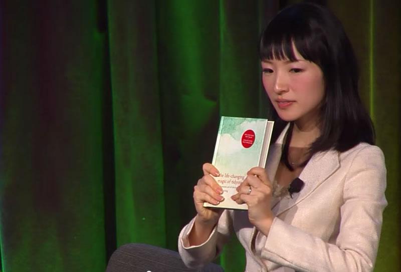 Immagine dal video di presentazione di Marie Kondo