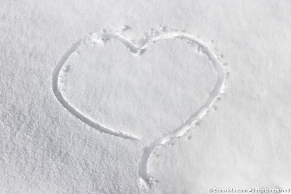 cuore nella neve - erbaviola