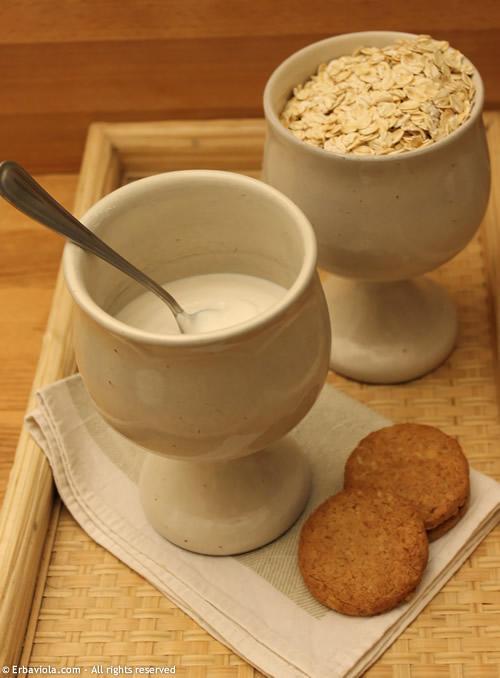 Ricetta del latte di avena & Frollini di okara di avena