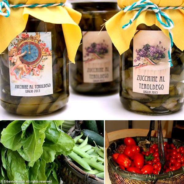 Zucchine al Teroldego - erbaviola.com